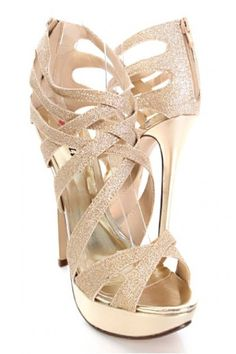 Champagne heels with jewels. | shoes | Pinterest | Jewels, Heels ...