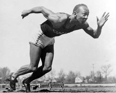 """Jesse Owens - AP Photo - """"The battles that count aren't the ones for gold medals.  The struggles within yourself-the invisible battles inside all of us-that's where it's at."""