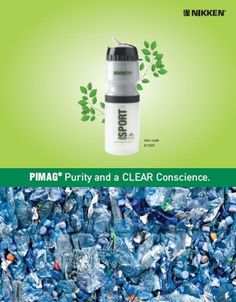 Alkaline, Mineral, Magnetically Ionized, Filtered Water in a BioGreen Bottle. Safe for Your Family & Earth.