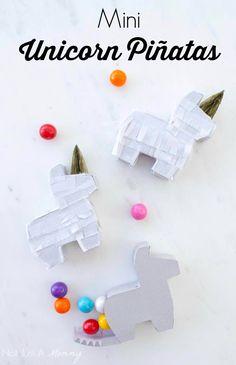 Your unicorn party needs mini unicorn piñatas!