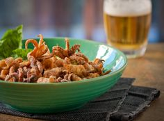 """Calamari....yum. Every birthday my Mom would make this for me from age 4 'til I moved to college at 18 -- I called them """"Squid Rings"""". Still love 'em."""