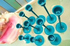 Catch the Wave Tropical Blue Lagoon Chippy Candlestick Collection