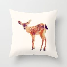 Fawn Throw Pillow by Amy Hamilton - Cover x with pillow insert - Indoor Pillow Throw Pillow Covers, Throw Pillows, Oh Deer, Humble Abode, Home Decor Inspiration, Interior And Exterior, Home Accessories, Sweet Home, Just For You