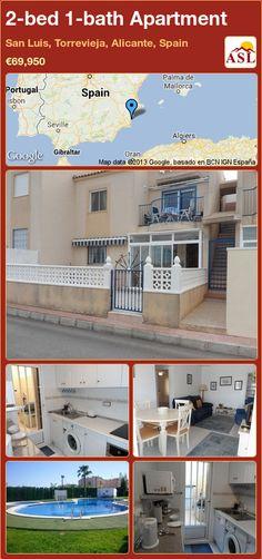 2-bed 1-bath Apartment in San Luis, Torrevieja, Alicante, Spain ►€69,950 #PropertyForSaleInSpain