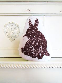 Hey, I found this really awesome Etsy listing at http://www.etsy.com/listing/93839749/plush-bunny-pillow-woodblock-printed