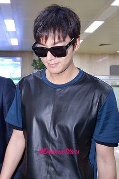 Lee Min Ho at Gimpo Airport from Shanghai, China - Jul 16, 2014