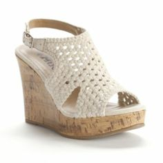 Mudd Crochet Wedge Sandals - Women