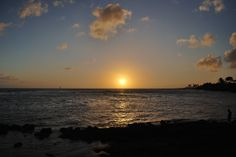 Watching the beautiful sunset at The Beach House Restaurant in Koloa/Poipu Hawaii