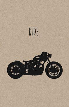 Paseo. Impresión motos por InkedIron en Etsy