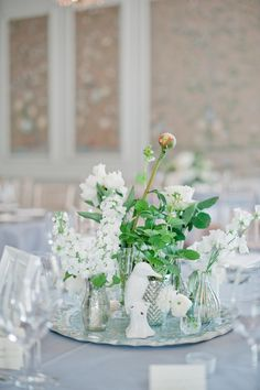 #peony, #stock, #rose, #white, #centerpieces  Photography: Dominique Bader - www.dominiquebader.com  Read More: http://www.stylemepretty.com/2015/05/09/bouquet-breakdown-elegant-english-ballroom-wedding/