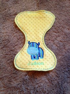 Hippo Burp Cloth