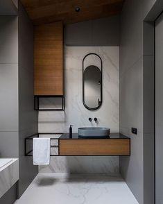 its-my-living: Minimalist Bathroom Inspiration Washroom Design, Bathroom Interior Design, Modern Interior Design, Modern Toilet Design, New Bathroom Designs, Vanity Design, Studio Interior, Modern Interiors, Interior Paint