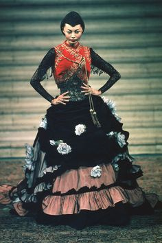 Irina Pantaeva @ Eclect Dissect, Givenchy F/W 1997 Haute Couture by Alexander McQueen
