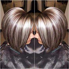 Hair Beauty - -Hair Brunette Caramel Cut And Color 38 Ideas For 2019 hair Platinum Highlights, Gray Hair Highlights, Platinum Blonde, Chunky Highlights, Hair Color And Cut, Haircut And Color, Grey Wig, Hair Affair, Brunette Hair