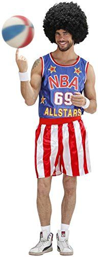 """cool       £19.26  Basketball Player CostumeIncludes - Tank top and shortsSize - Chest Size 40"""" to 42""""  B009GIQY0M ...  Check more at http://fisheyepix.co.uk/shop/basketball-player-adult-fancy-dress-costume-medium-4042/"""