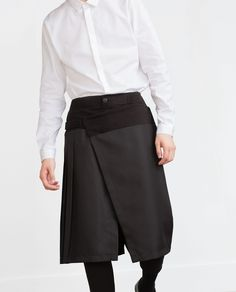 TROUSERS WITH OVERLAID SKIRT - View all - Trousers - MAN   ZARA Belgium