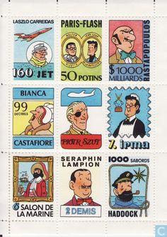 """Timbres-poste - Etat de fantasie - Tintimbres La Samaritaine """"(4) - Vignettes"""