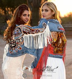 ~ Western fashions by Wild Bleu, TX style, and modeled by Tressie Childs (left) and Erin Marie Alexander (right). ~