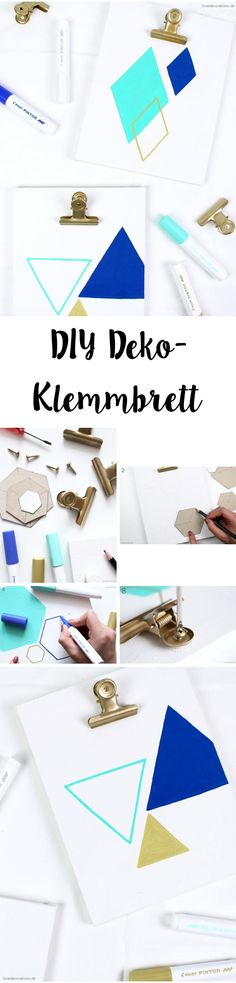 DIY decorative clipboard made of canvas with PILOT PINTOR * + Give Away – Love Decorations - Arbeitszimmer Geometric Patterns, Love Decorations, Baby Journal, Diy Inspiration, Vegetable Garden Design, Diy Canvas, Pilot, Diy Wall, Easy Diy