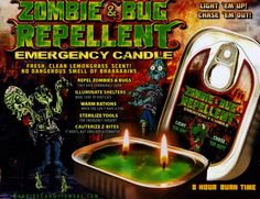 Zombie and Bug Repellent Emergency Candle/Halloween/Gift/Grab Bag/Party/Birthday ** Read more reviews of the product by visiting the link on the image. Halloween Candles, Halloween Gifts, Emergency Candles, Light Em Up, Halloween Birthday, Grab Bags, Lemon Grass, Pest Control, Zombies