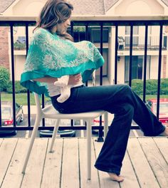 A nursing cover that you will actually want to wear when you're not nursing! Remembering this for baby #2!