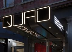 Logotype and signage by Pentagram for New York's Quad Cinema