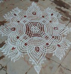 Rangoli Designs Latest, Latest Rangoli, Rangoli Designs Flower, Rangoli Border Designs, Rangoli Designs Diwali, Rangoli Designs With Dots, Rangoli Designs Images, Kolam Rangoli, Rangoli With Dots