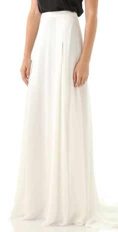lovely floor length white skirt
