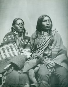 Man on the Hill and his wife, Lakota