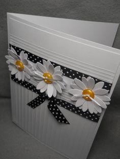 Daisy daisy card three dimensional daisies white daisies | Etsy Daisy Daisy, Pretty Cards, Cute Cards, Bday Cards, Embossed Cards, Three Dimensional, Card Tags, Flower Cards, Greeting Cards Handmade