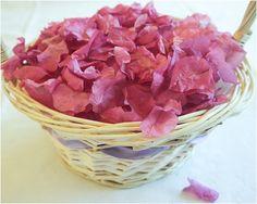 The Natural Confetti Company: Bougainvillea flower petals for wedding confetti - lovely idea!