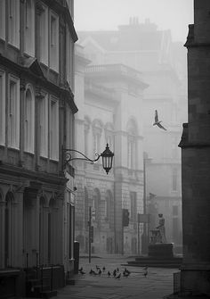 Foggy street, Bath, England by Bill Stormont, This is the exact spot Lorna had her sketch Portrait done. Most Beautiful Cities, Beautiful World, Beautiful Streets, Oh The Places You'll Go, Places To Visit, Bath Uk, Foto Art, Scenery, Around The Worlds