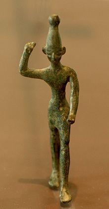Who Is Baal | Ugaritische Baal-Bronzestatue, gefunden in Ras Shamra (14. bis 12 ...