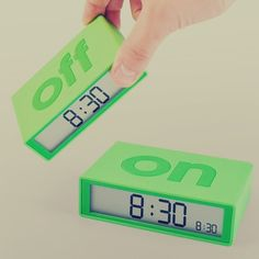 On off alarme clock