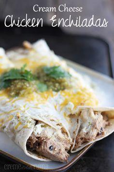 Slow Cooker Cream Cheese Chicken Enchiladas