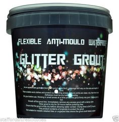 Glitter grout! So freakin cool. Use in the sauna tub mikes building upstate!