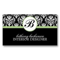 business card interior design examples | Stylish Interior Designer Business Card