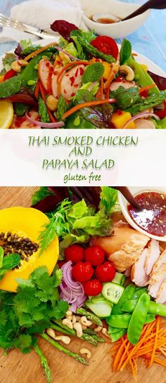 Thai smoked chicken and papaya salad delivers big time on flavour, is super fast and easy to make and is economical. Larb Salad, Great Salad Recipes, Tasty Thai, Smoked Chicken, Salmon Salad, Fodmap Recipes, Salad Ingredients, Canning Recipes, Kitchens