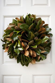 christmas wreaths, the doors, christmas time, holiday wreaths, magnolia wreath