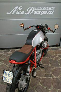 """Moto Guzzi SP 1000 Cafe Racer """"Zani"""" by Nico Dragoni Motociclette Guzzi Bobber, Moto Guzzi V50, Moto Guzzi Motorcycles, Cool Motorcycles, Moto Cafe, Cafe Bike, Cafe Racer Motorcycle, Bobber Custom, Custom Cafe Racer"""