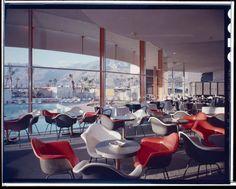 Palm Springs, CA Palm Springs California, Mid Century Modern Decor, Modern Graphic Design, Eames, Interiores Design, Modern Architecture, Mid-century Modern, Lounge, Hospitality