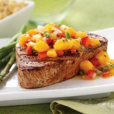 yellowfin tuna with mango salsa