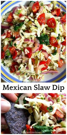 BEST Mexican Slaw Dip recipe, otherwise known as a Mexican Coleslaw, is perfect . Dips, Six Sisters' Stuff, Dips BEST Mexican Slaw Dip . Mexican Slaw, Mexican Dishes, Mexican Food Recipes, Ethnic Recipes, Mexican Cabbage Salsa, Mexican Shrimp, Mexican Desserts, Mexican Appetizers, Appetizer Recipes