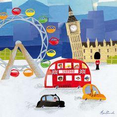 London Town Canvas Print - Happy Spaces