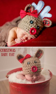 This baby reindeer hat is perfect for the holidays! Beautiful Christmas Decorations, Unique Christmas Gifts, Christmas Gift Guide, Christmas Baby, All Things Christmas, Holiday Crafts, Holiday Fun, Christmas Holidays, Merry Christmas