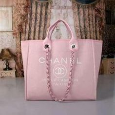 72cef31074df Sleek Leather Link Chain Shopping Bag - Pink Borse In Pelle, Borse Chanel,  Borse