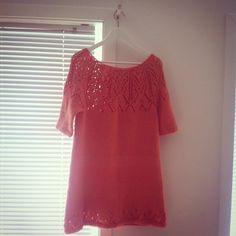 #strikkekjole #sommerkjole #summerknits #summerdres #knitteddress #knittedclothes #womensclothes #summer #sommer Short Sleeve Dresses, Dresses With Sleeves, Tunic Tops, Knitting, Instagram Posts, Women, Fashion, Gowns With Sleeves, Moda