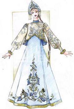 Костюм хороводный женский (мод-582) Russian Beauty, Russian Fashion, Historical Clothing, Historical Costume, Fashion Illustration Vintage, Doll Costume, Costumes, Barbie Dress, Traditional Dresses
