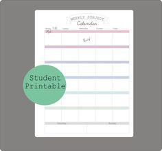 Calendar, Weekly calendar and Printable weekly calendar on Pinterest