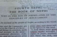 Studying 4th Nephi - The Red Headed Hostess